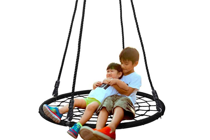 SUPER DEAL Spider Web Tree Swing
