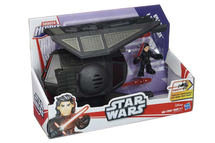 Star Wars Galactic Heroes The Last Jedi Kylo Ren and Tie Silencer Vehicle