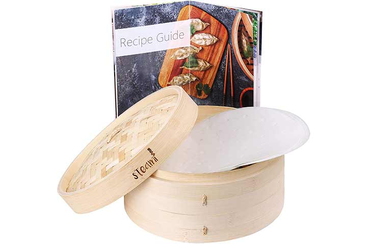 Steami Bamboo Steamer With Liners