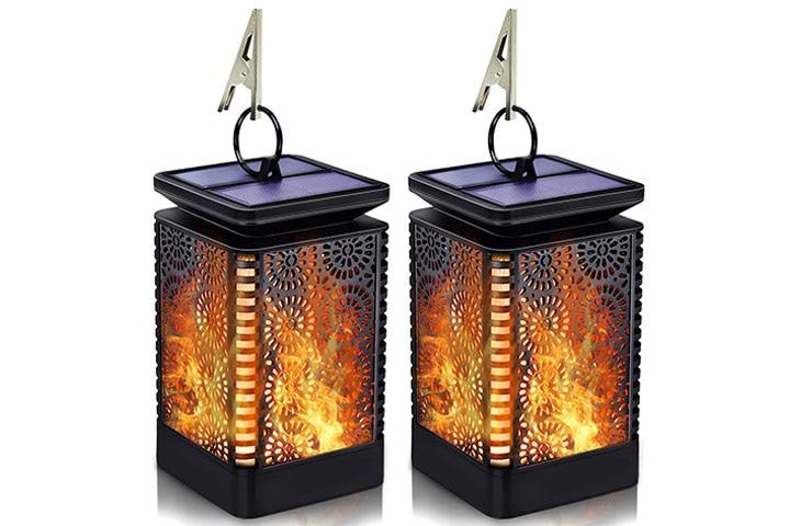 TOFU Solar Lantern Lights Outdoor Hanging with Flickering Dancing Flame