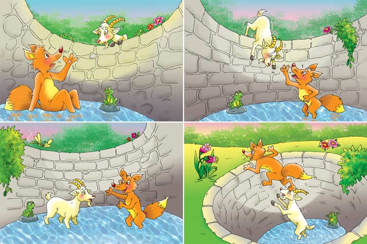 The Fox And The Goat Story In English, With Pictures-1