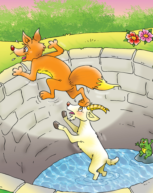 The Fox And The Goat Story In English, With Pictures