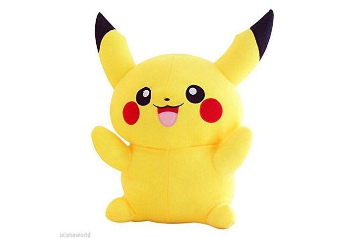 Tickles Yellow Pikachu Stuffed Soft Plush Toy