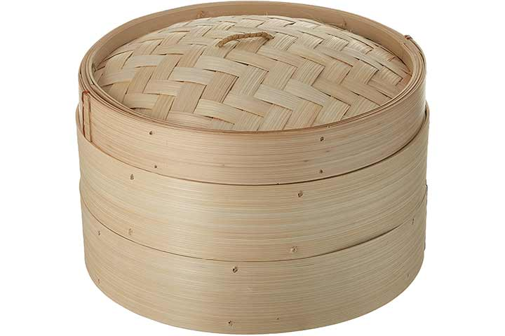 Trademark Innovations Bamboo Dumpling Steamer