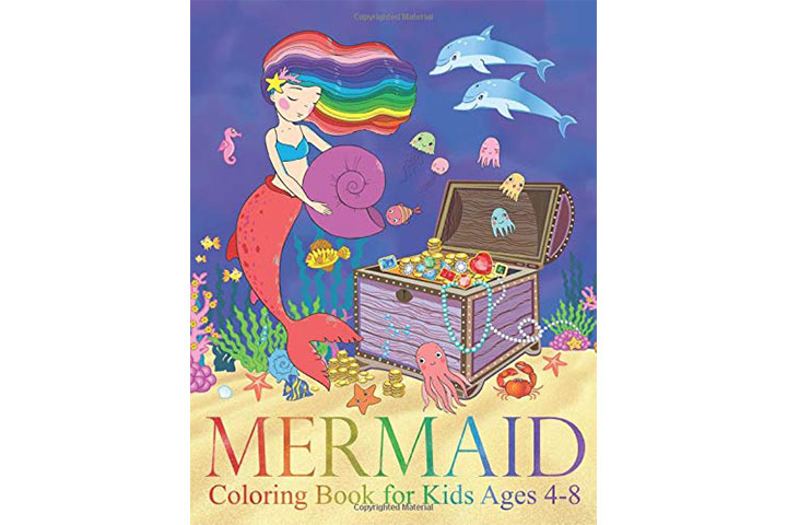 Two Hoots Coloring Mermaid Coloring Book