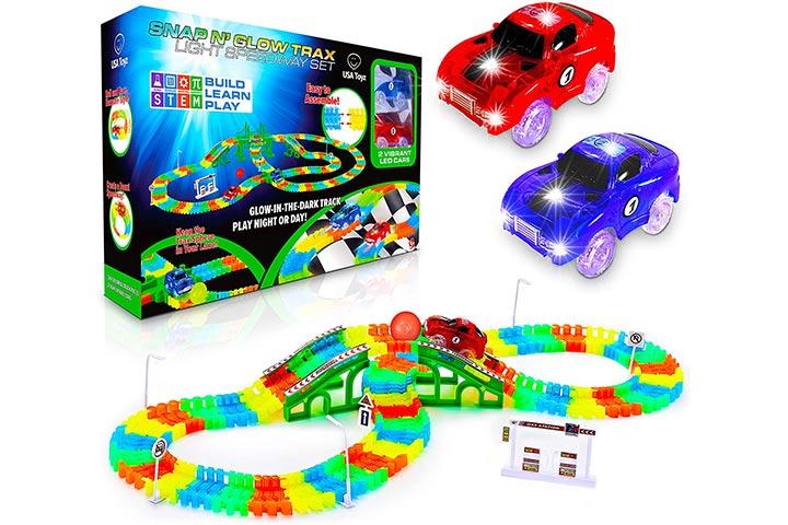 USA Toyz Glow Race Tracks For Boys and Girls