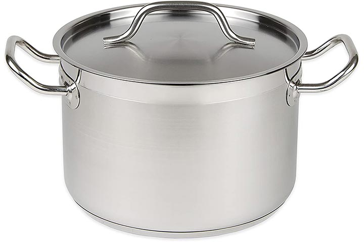 Update International 12 Qt Stainless Steel Stock Pot