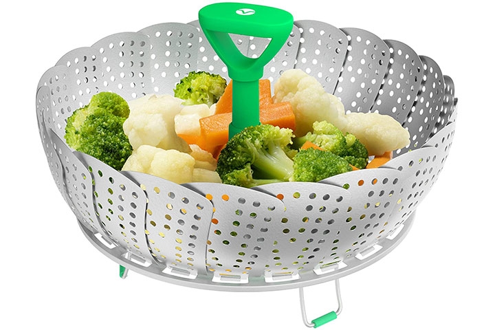 Vremi Collapsible Vegetable Steamer Basket