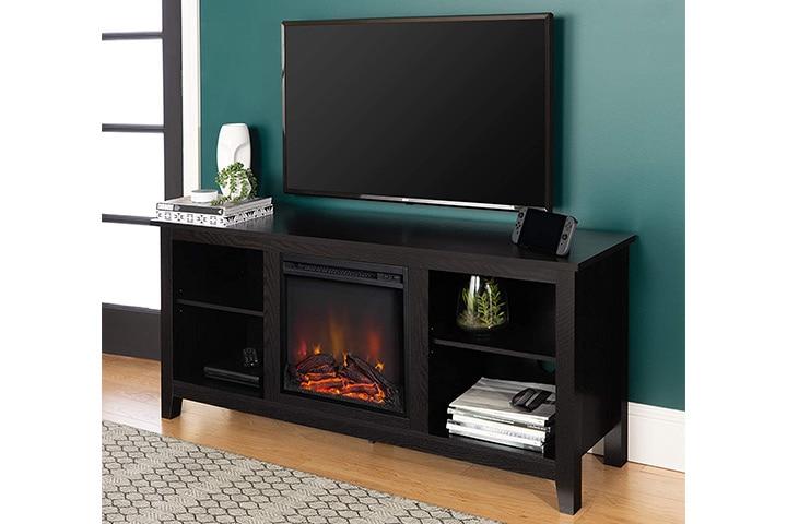 WE Furniture Minimal Farmhouse Wood Universal Stand