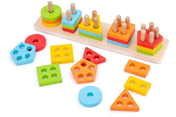 WOOD CITY Wooden Sorting & Stacking Toy