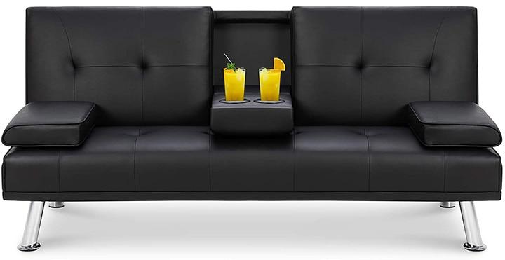Walsunny Convertible Futon Sofa Bed