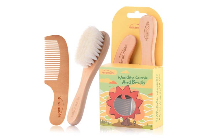 Yarra Modes Goat hairbrush and Comb Set