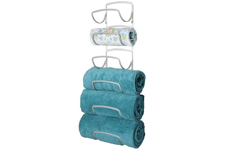 mDesign Six Level Bathroom Towel Rack Holder