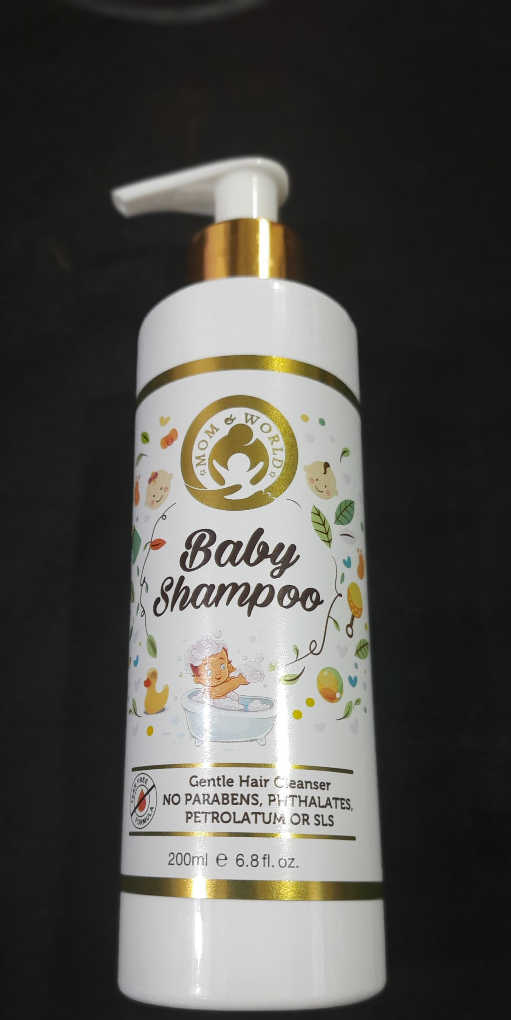 Mom & World Tear Free Baby Shampoo-Cleanses without any tears-By shepinklife