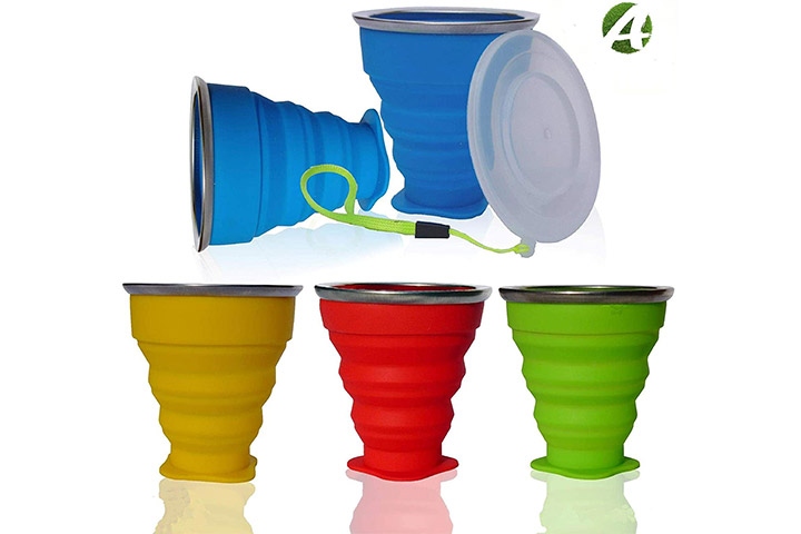 AVALEISURE Collapsible Silicone Camping Cup