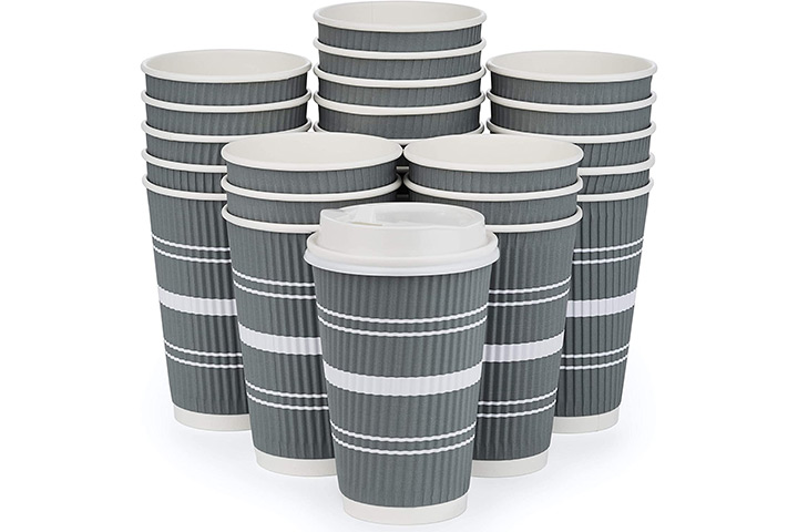 AVL Products Inc. Disposable Coffee Cups With Lids And Straws