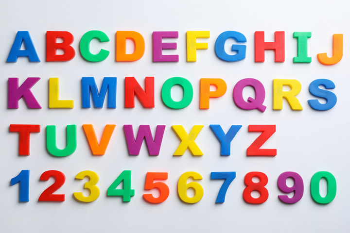 Alphabet and number magnets