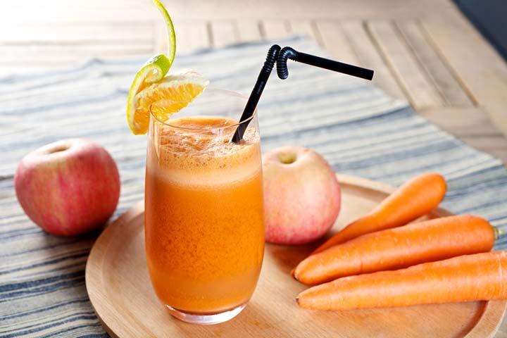 Apple, sweet potato, and carrot juice