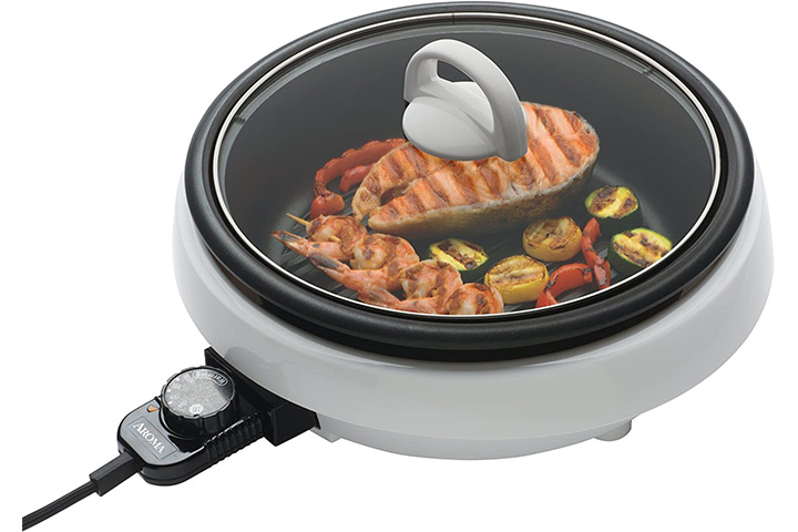 Aroma Housewares ASP-137 Super Pot with Grill Plate