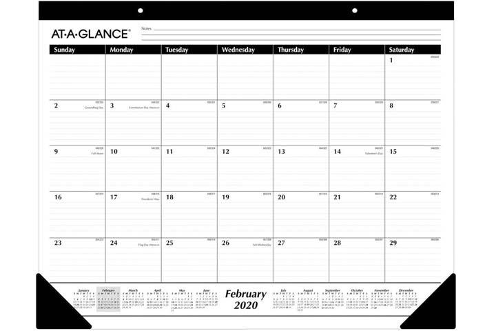 At-A-Glance Desk Calendar 2020
