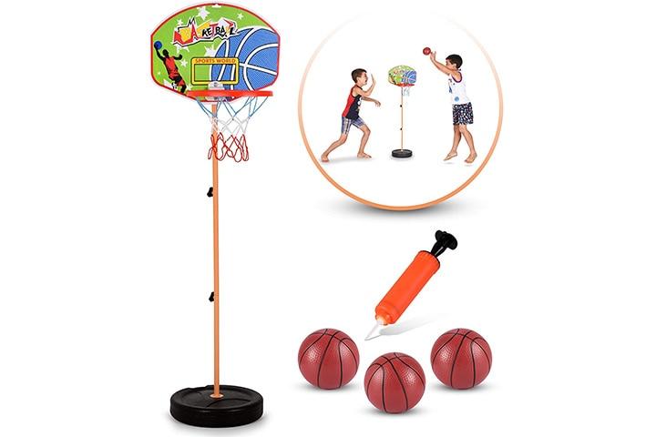 BRITENWAY Adjustable Basketball Hoop For Kids