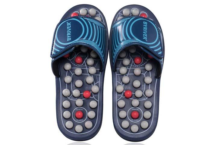 BYRIVER Acupressure Foot Massage Slippers
