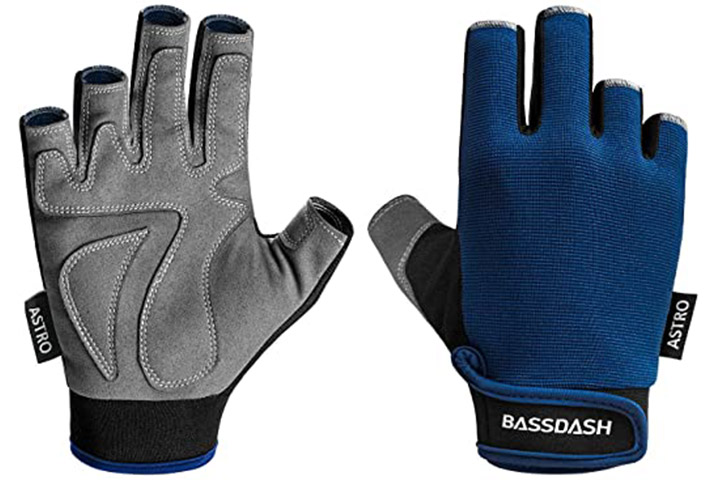 Bassdash Sure Grip Fishing Gloves