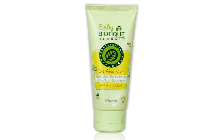 Biotic Aloe Vera Baby Sun Block Sunscreen