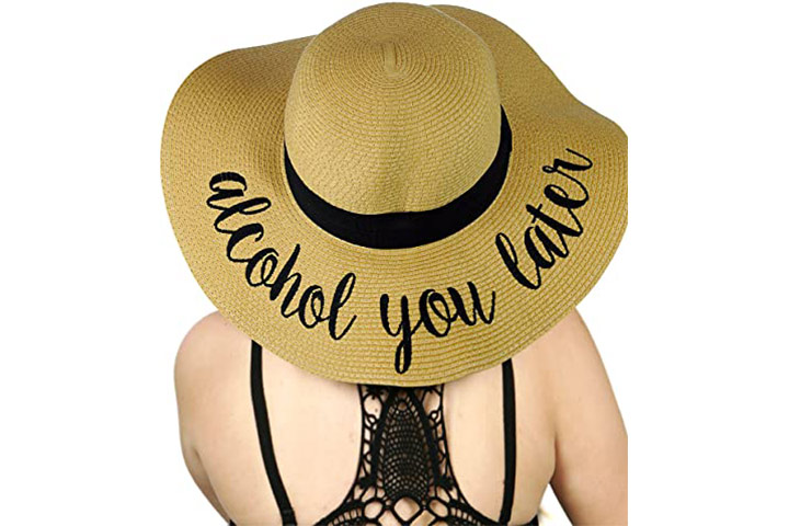C.C Women's Paper Weaved Crushable Floppy Sun Hat
