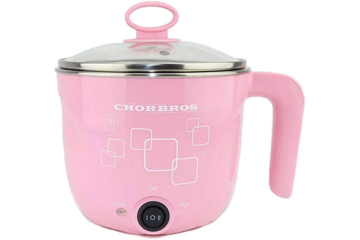 CHORBROS Electric Stainless steel pink Hot Pot