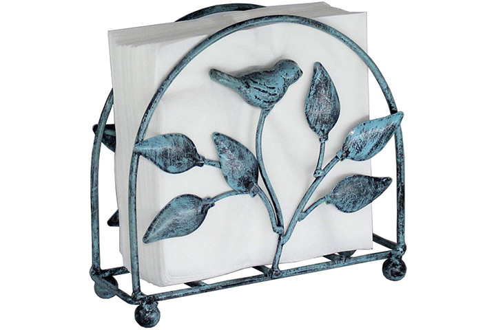 Cast Iron Bird & Tree Classic Napkin Holder