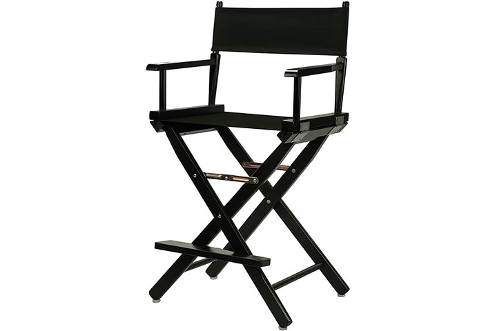 Casual Home 24 Director's Chair Black Frame-with Black Canvas