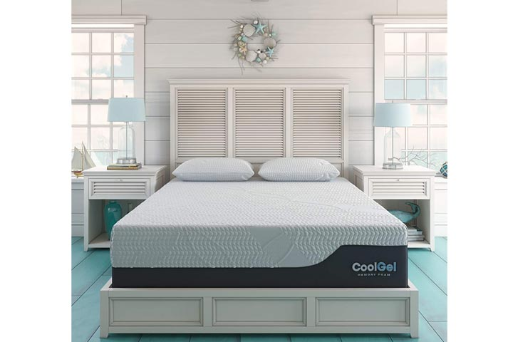 Classic Brands Cool 2.0 Ultimate Gel Memory Foam 14-Inch Bonus Pillow Mattress