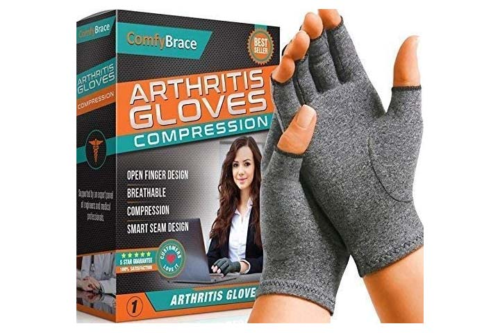 ComfyBrace Fingerless Arthritis Gloves