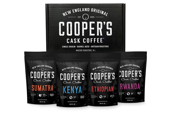 Cooper's Cask Coffee Gourmet Coffee Sampler Gift Box Set