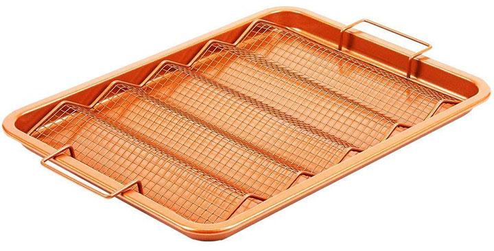 Copper Chef Oven Crisper Tray for Bacon & More