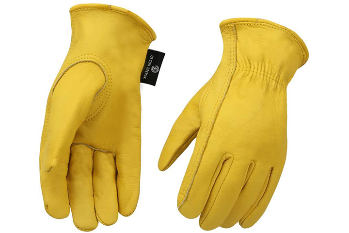 Cowhide Leather Shooting Gloves for industrial production