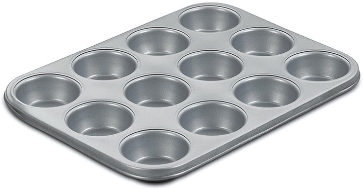 Cuisinart AMB-12MP Chef's Classic Nonstick Bakeware 12-Cup Muffin Pan