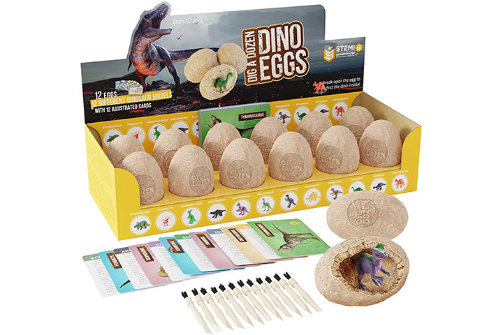 Dan & Darci's Dig A Dozen Dino Eggs