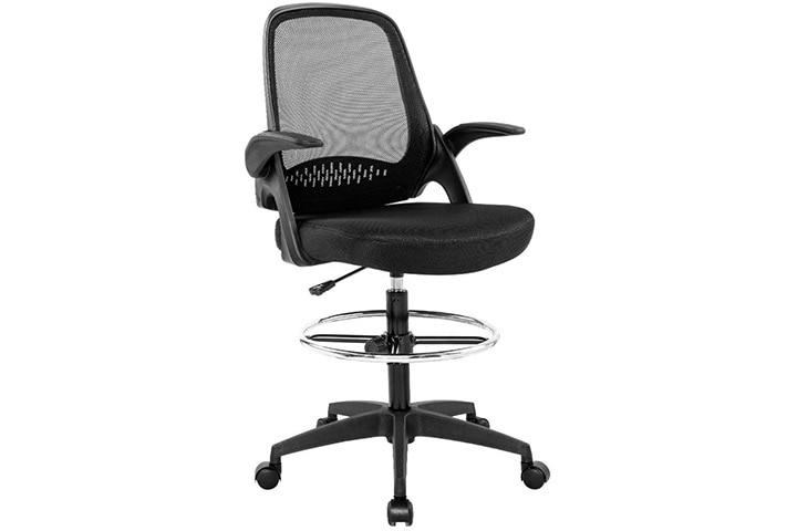 Drafting Chair Tall Office Chair Desk Chair Mesh Computer Chair