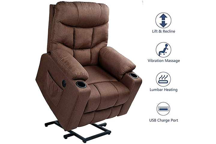Esright Fabric Power Lift Chair Electric