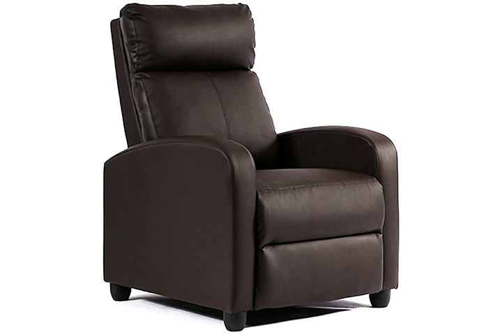 FDW Recliner Chair Single Reclining Sofa Leather