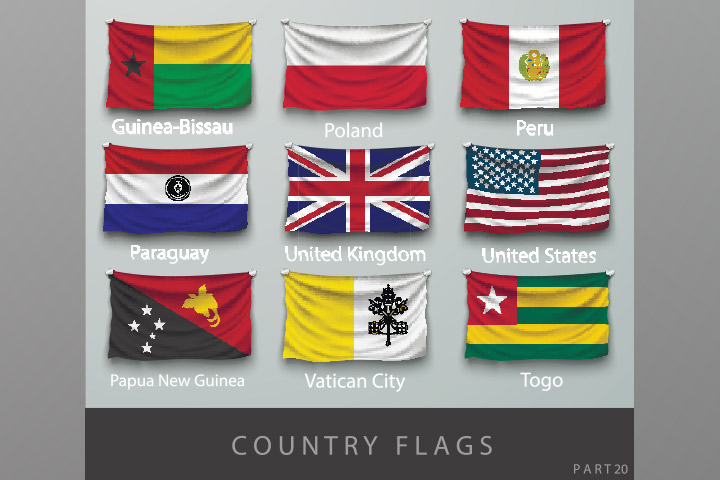 Flag the country