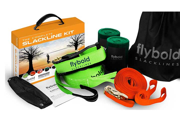 Flybold Slackline Kit with Training Line