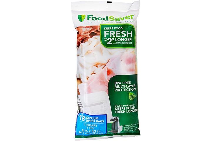 FoodSaver 1-Quart Vacuum Zipper Bags