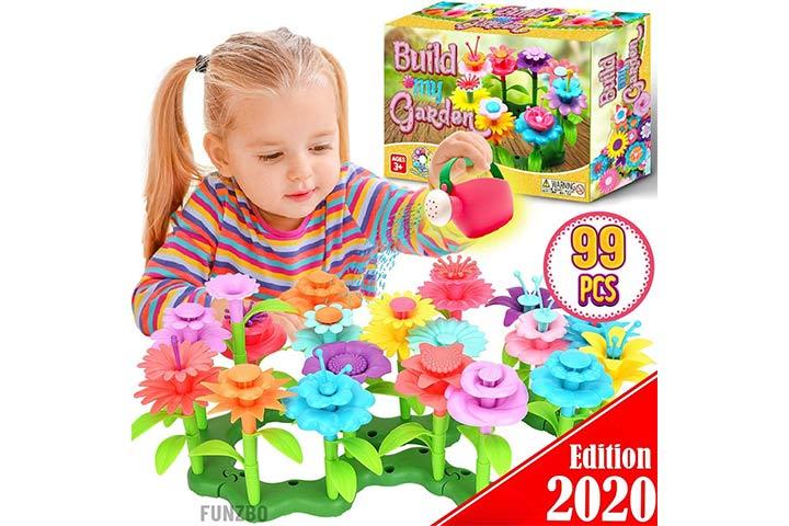 FunzBo Flower Garden Building STEM Toys - Gardening Pretend Gift