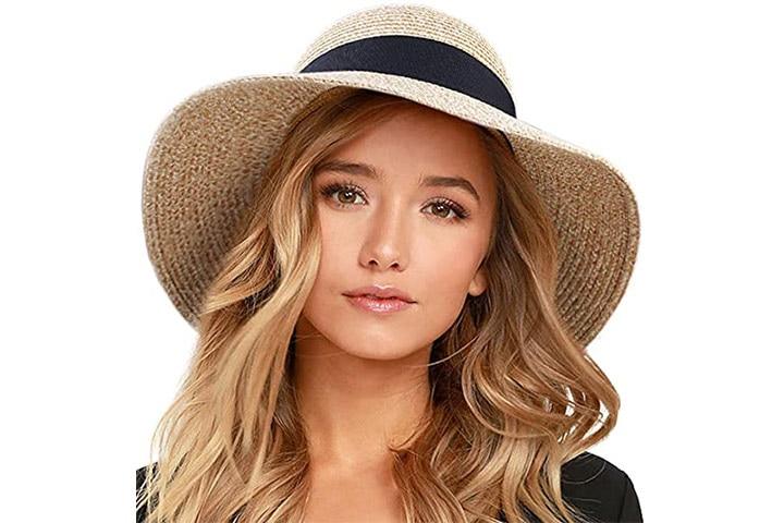 Furtalk Women's Foldable Travel Sun Hat