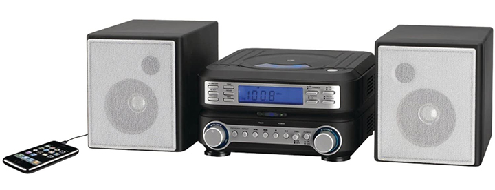 GPX HC221B Stereo Home Music System