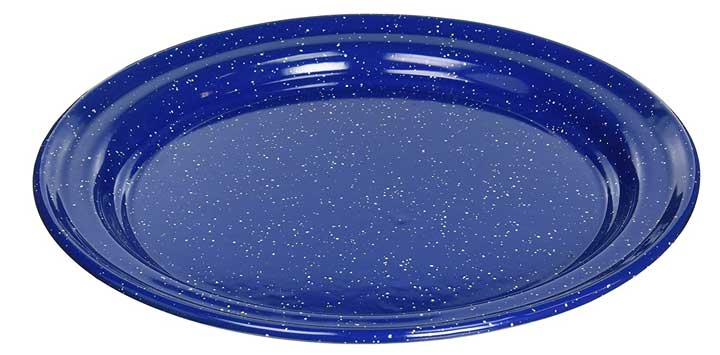 GSI Outdoors 10 Inch Enamelware Plate for Camp, Cabin