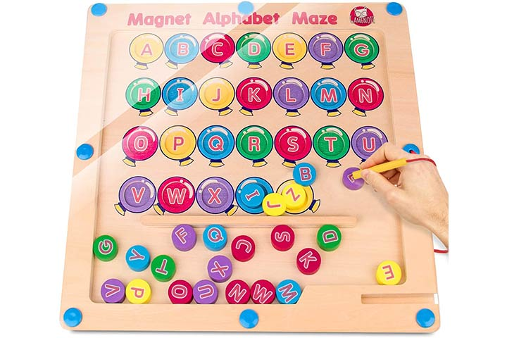 Gamenote Magnetic Alphabet Maze Board